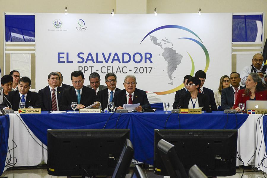 El presidente Sánchez Cerén expresó ante 26 de 33 representante de los estados miembros del organismo que El Salvador aboga por el camino del diálogo para todos los venezolanos.