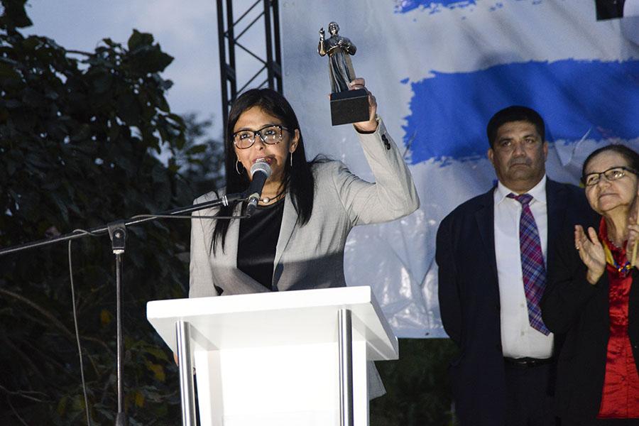 La canciller venezolana expresó a los asistentes que