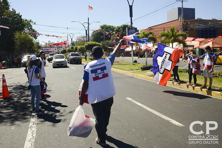 Ambiente en el Centro Internacional de Ferias y Convenciones (CIFCO).  Salvadoreños eligen a diputados y alcaldes para el periodo 2018-2021, en una jornada que inició a las 7:00 de la mañana.