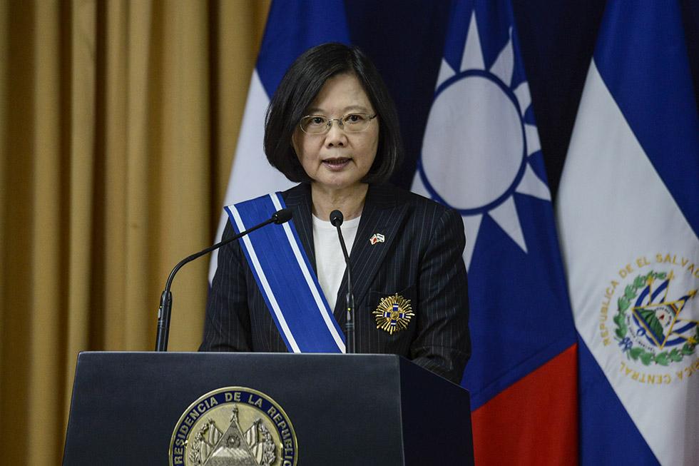 Tsai Ing-wen reafirmó el apoyo de la nación asiática con el desarrollo de proyectos  para la educación y la juventud salvadoreña. Foto: Vladimir Chicas