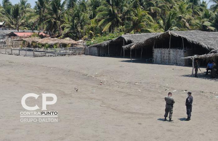 Elementos de la PNC y Fuerza Armada, realizan patrullajes en las diferentes playas del país