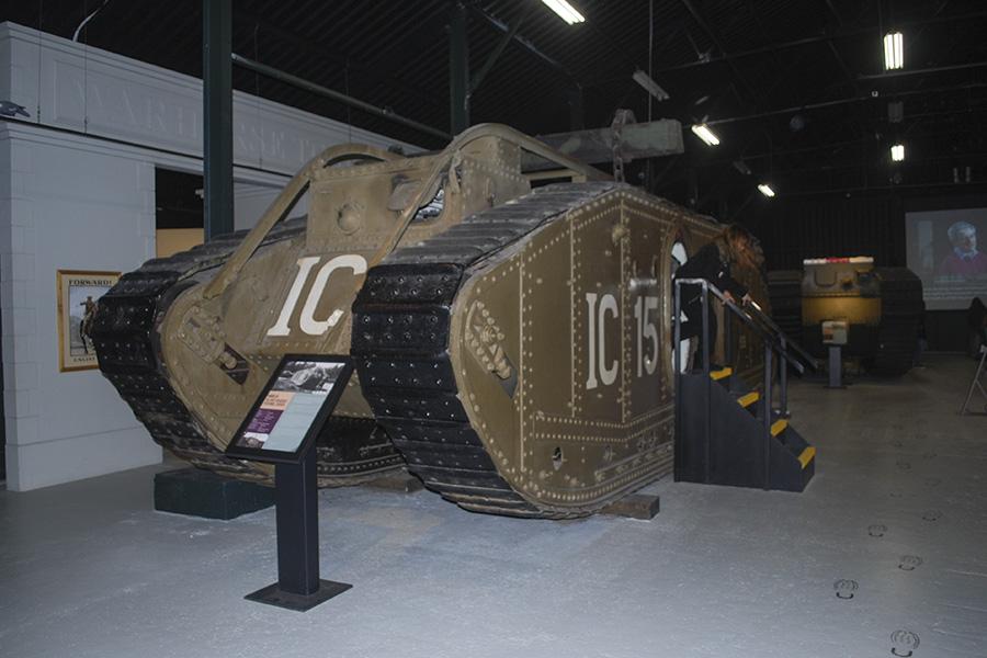 Uno de los tanques usados en la II Guerra Mundial por parte de los británicos, exhibido en  Museo del Tanque de  Bovington, ubicado al el sudoeste de Inglaterra, y que contiene piezas de un increíble valor histórico que van desde la I Guerra Mundial hasta la Guerra del Golfo. Foto: Nicole Chicas