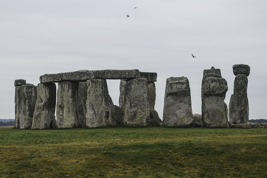 El Stonehenge. Ubicado  al oeste de Inglaterra, es uno de los monumentos prehistóricos más famosos del mundo. La piedra circular fue erigida a finales de periodo Neolítico, aproximadamente 2,900 antes de Cristo. Foto: Nicole Chicas