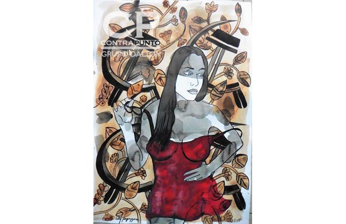 Gustavo Cesar Echevarría Estrada más conocido como El Cuty es un pintor cubano/ salvadoreño. Su pintura es una suerte de exorcismo a propósito de esos fantasmas de lo masculino que el beneficio del pudor suele conservar en secreto.