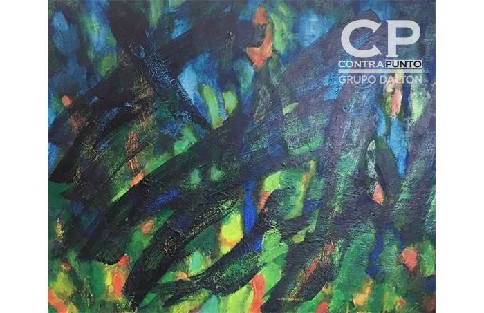 Pinturas por Ricardo Aguilar (Humano), nacido en El Salvador, en 1940. Escritor, pintor y promotor cultural