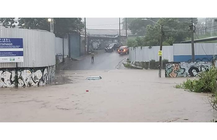 Inundaciones en Soyapango