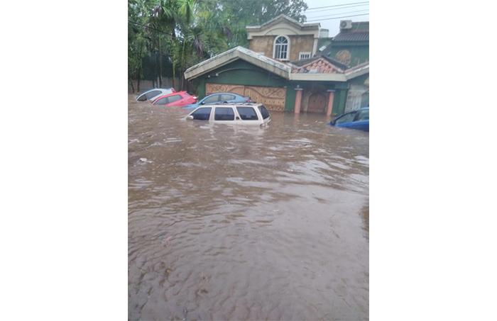 Inundación en Colonia Brisas de San Francisco