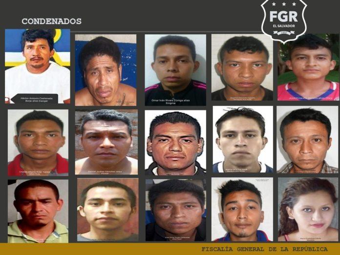 Condenan a 176 años de prisión contra 14 pandilleros vinculados con 13 homicidios